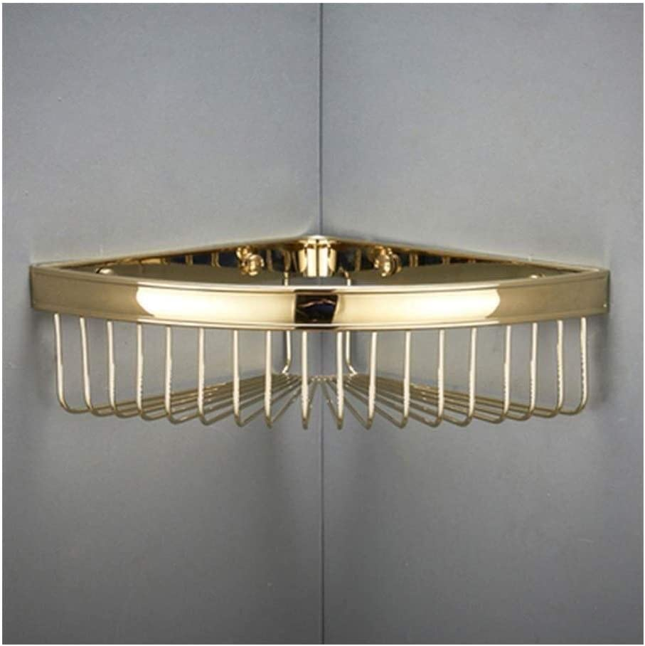 AINIYF Bathroom Shelf Storage Superlatite Basket with Classic Corner Wall Moun