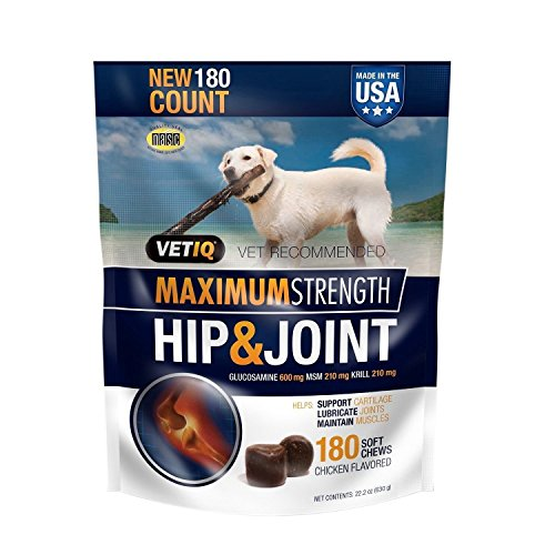 VetIQ Hip & Joint Chews for Dogs, 180 ct. (pack of 2)