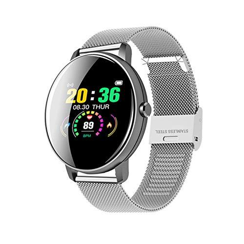 KMF P8Y Multi-Language Men's Business Bluetooth Bluetooth Impermeable Smart Watch TFT-LCD Toque Presión Arterial Monitor De La Aptitud Pulsera para Android iOS,A