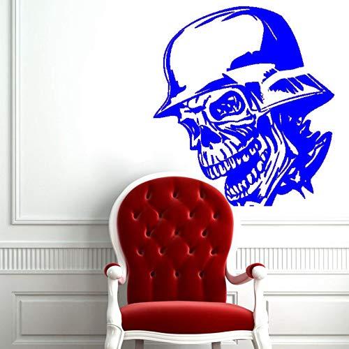 guijiumai Dctal Schädel Halloween Helm Aufkleber Punk Death Decal Devil Poster Name Autofenster Kunst Wandtattoos Parede Decor Mu 7 86x108cm