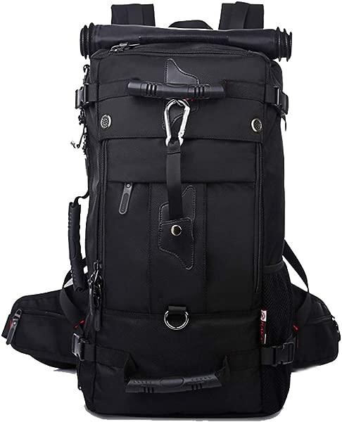 大容量旅行背包防水男士女士户外行李包 40L 50L 17 3 笔记本电脑包黑色 50L
