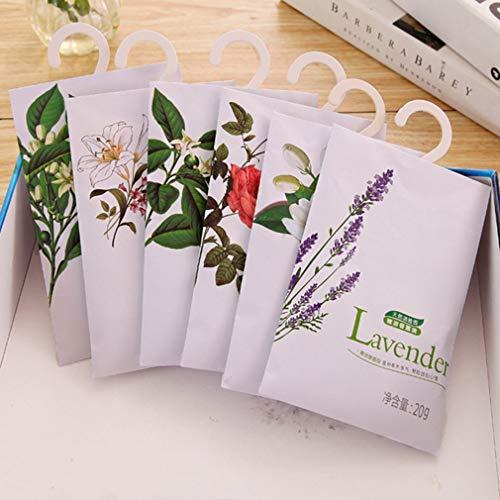 Haowen Bolsas perfumadas perfumadas Bolsa Armario Coches Flores Ambientador aromático para Colgar Jazmín Multicolor 3 Piezas