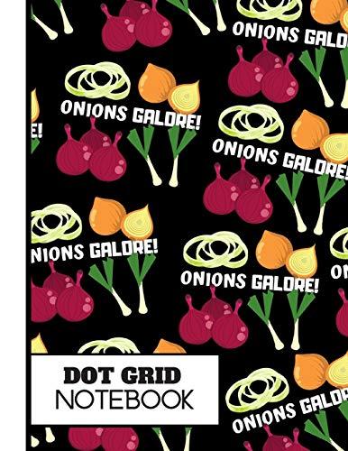 (DOT GRID NOTEBOOK): Striking Onion Black Pattern Novelty Gift: Onion Dot Grid Notebook for Kitchen, Men, Women, Teens