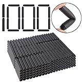 TXXCI 1000 cartuchos de espuma para dardos Nerf N-Streik Elite Series Blasters, color negro