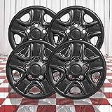 Brighter Design Set of 4 Gloss Black 5 Spoke 18' Wheel Skins for 2007-2018 Toyota Tundra
