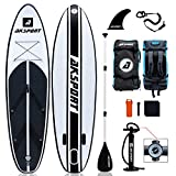AKSPORT 10'6'×32'×6' Inflatable Stand Up Paddle Board with Premium Non-Slip Deck,Travel Backpack,Adjustable Paddle,Pump,Leash for Youth & Adult Ultra-Light Surfing SUP Boards