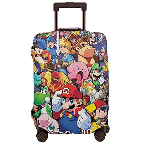 Mario Legend - Maleta de dibujos animados Zelda con banda elástica, caja protectora antiarañazos, mangas elásticas gruesas y fáciles de limpiar, estampadas con estilo y lindas