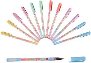 Shulaner ジェルボールペン 色混合中性ぺん 虹色 カラー ボールペン 0.5 mm 6色 お絵かき ポップ カラー
