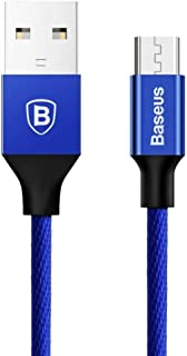 Smart Phone Cable Of BASEUS, Micro USB Supports fast charging second generation and data transmission blue