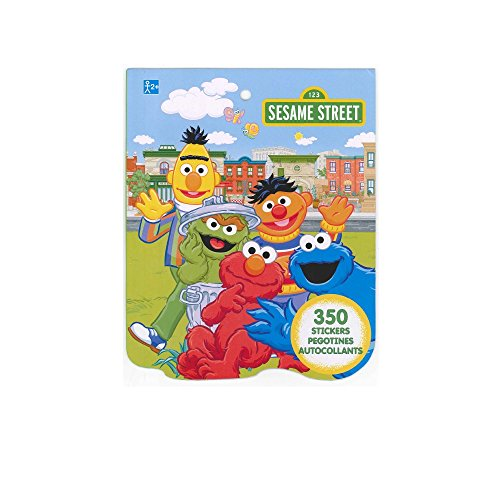 Sesame Street Sticker Book for Kids (over 350 stickers)-1 PACK