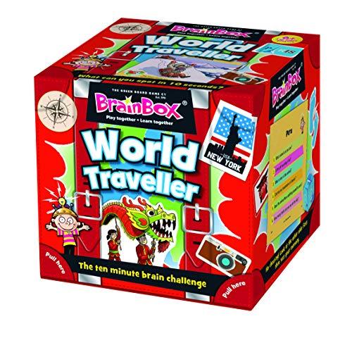 Green Board Games GRE91037 BrainBox World Traveller