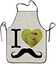 Kakakaoo I Love Garbage High Quality Sew Aprons For Diet-kitchen Black Size