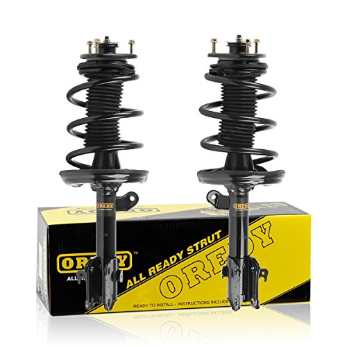 OREDY Front Pair Complete Shocks Struts Coil Spring Assembly Kit Compatible with Honda Ridgeline 2006 2007 2008 2009 2010 2011 2012 2013 2014#11505 11506 72344 72343