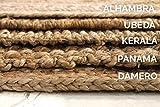 HAMID Jute Teppich Natur - Alhambra Oval Teppich 100% Naturfaser de Jute (90x150cm) - 8