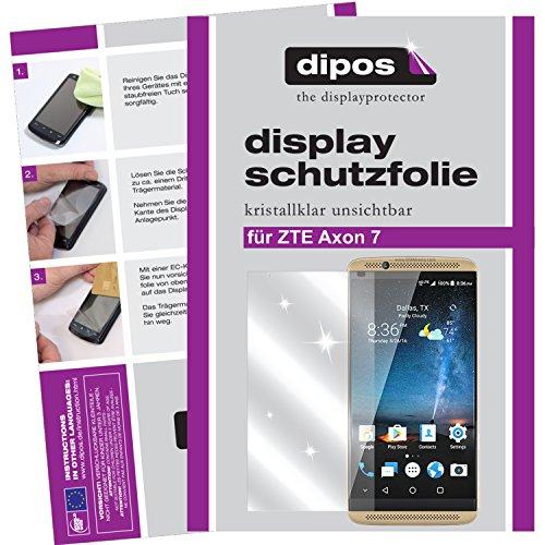 dipos I 6X Schutzfolie klar kompatibel mit ZTE Axon 7 Folie Bildschirmschutzfolie