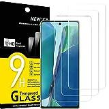 NEW'C 3 Unidades, Protector de Pantalla para Samsung Galaxy Note20, Antiarañazos, Antihuellas, Sin Burbujas, Dureza 9H, 0.33 mm Ultra Transparente, Vidrio Templado Ultra Resistente