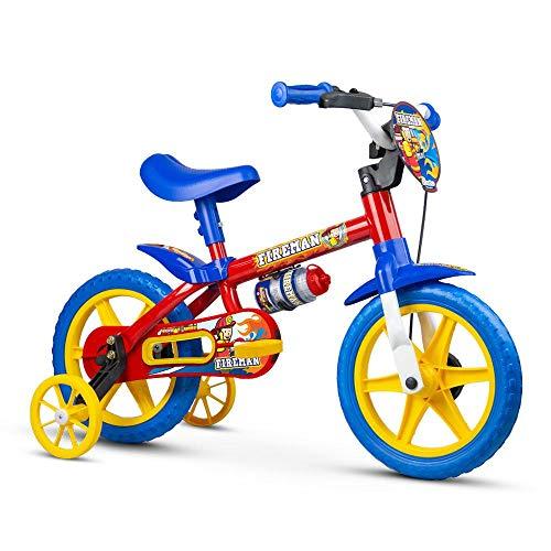 Bicicleta Infantil Aro 12 Fire Man com Rodinhas, Nathor