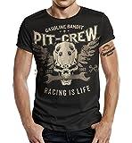 Camiseta de motorista Racer con diseño de tornillo grande Negro M...