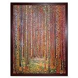 Wee Blue Coo Gustav Klimt Tannenwald I Old Master Painting Art Print Framed Poster Wall Decor Kunstdruck Poster Wand-Dekor-12X16 Zoll