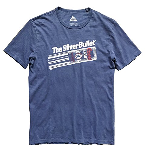 Lucky Brand Men's Blue Coors Silver Bullet Tee (Medium)