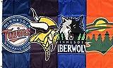 Lovely999 New Minnesota Vikings Twins Timberwolves Wild Flag 3x5 feet Sports Banner Man Cave