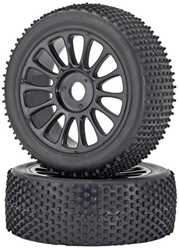 Carson 500900075 - 1:8 Reifen/Felgen-Set Buggy, Modellbauzubehör, 2 Stück, schwarz
