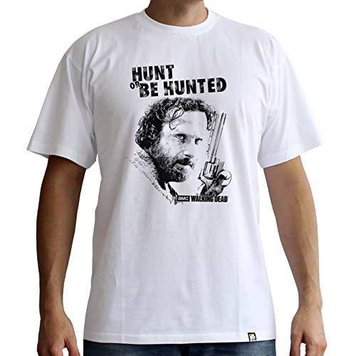 ABYstyle - The Walking Dead - Tshirt Hunt Or Be Hunted Homme White (L)