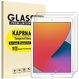 [2 Piezas] KAPRNA Protector Pantalla Compatible con iPad 10.2 Pulgadas [2020/2019, 7ª/8ª Generación],Cristal Templado iPad 8ª Generación, Anti-arañazos