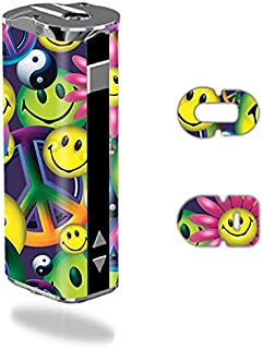 MightySkins Skin Compatible with Eleaf iStick 30W – Peace Smile | Protective, Durable, and Unique Vinyl Decal wrap Cover | Easy to Apply, Remove, and Change Styles | Made in The USA