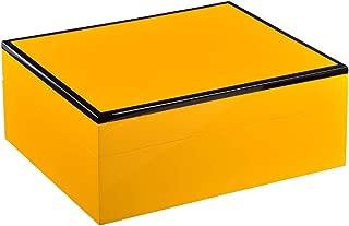 WFPJYD Cigar Box, Cedar Wood Cigar Box, Humidor, Cigar Humid Box, Black, Blue, Red, Yellow (Color : Yellow)