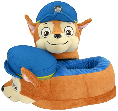 PAW PATROL 0121993 – Chaussons Enfants – Figurine Peluche Chase, Taille 29/31