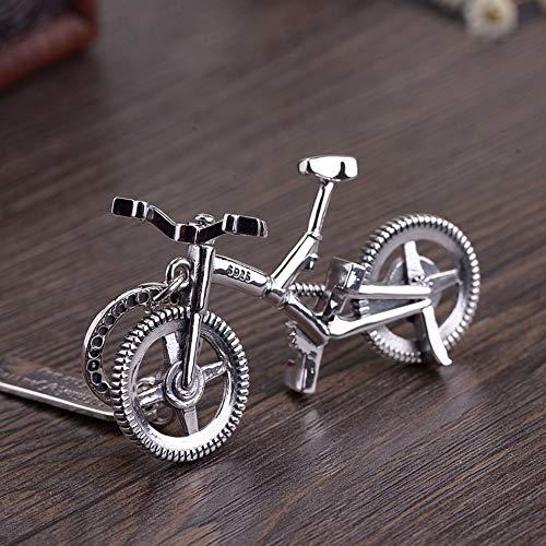 Einfache Vintage S 925 In Silber Halskette Frauen Männer Ethnischen Stil Fahrrad Anhänger Fashion Kreative Geschenk Persönlichkeit Trend