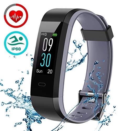 LATEC Pulsera de Actividad, Pulsera Inteligente Pantalla Color Reloj con Pulsómetro Impermeable IP68 Monitor de Ritmo Cardíaco Podómetro Deportiva Fitness Tracker para Mujer Hombre Niños