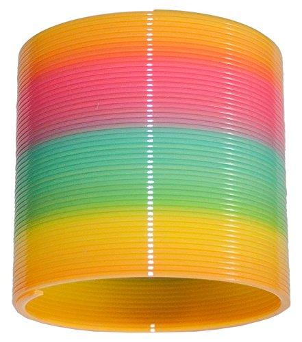 4 x Regenbogenspirale Spirale 8 cm Neon Springspirale Treppenläufer Mitgebsel