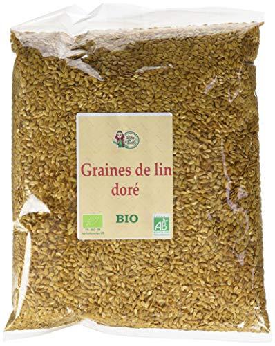 RITA LA BELLE Graines de Lin Dorée 1 kg - BIO - Lot de 4