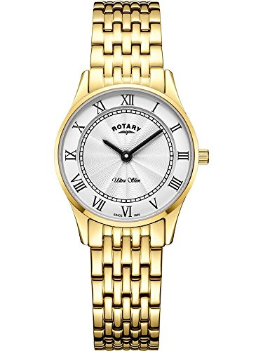 Rotary Damen Ultra Slim Gold Quarz Uhr