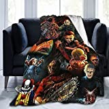 DABAITU Michael Myers Horror Movie Blanket Soft Cozy Throw Blanket Flannel Blankets for Couch Bed Living Room 50x40 Inch