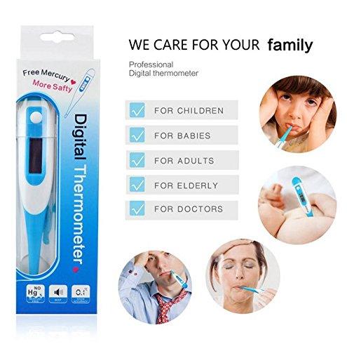 FunRun Professionale Digitale Clinico Termometro, Letture veloci e accurate, febbre di avvertimento, Auto Spegnimento, per la bocca, anale e ascella uso, perfetto per il bambino, bambini e adulti