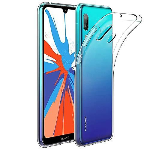 Amonke Funda Huawei Y7 2019 - Silicona Transparente TPU Carcasa, Flexible Suave Cristal Clear Ultra Slim Antigolpes Antiaraazos Bumper Case Cover para Movil Huawei Y7 2019