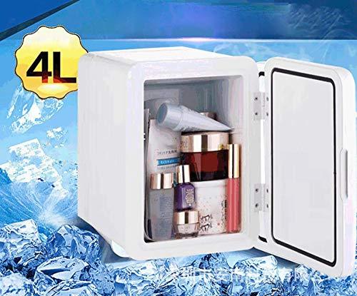 Llpeng Refrigerador del Coche de Gama Alta más Fresca y más 4L, con Aislamiento eléctrico Nevera portátil, 12V DC 210-240V AC Desarrollado Alimentos, Bebidas, cosméticos Vino energética A +++