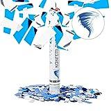 Relaxdays Cañón Confeti Manual, Plástico, Azul y Plateado, 40cm