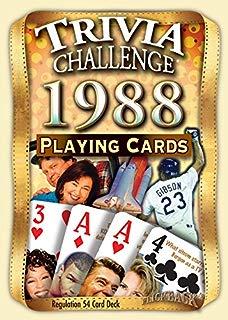 Flickback Media, Inc. 1988 Trivia Playing Cards: Happy 31st Birthday or 31st