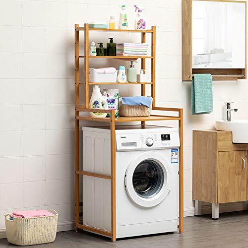 ZYH-Shelf Waschmaschine Storage Rack, große Kapazität über die Waschmaschine Regal Mehrzweck Steht Waschraum Halter 4 Tier