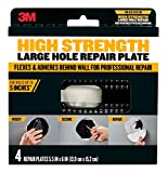 3M High Strength Large Hole Repair Plate, 4-pack