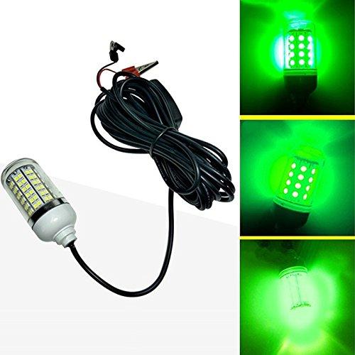TOOGOO 12V LED Gruen Unterwasser Tauch Nacht Angeln Licht Crappie Shad Squid Boot Angeln Licht