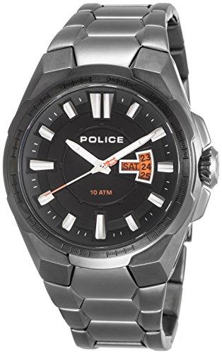 Police 13451JSU/02M - Reloj analógico de Cuarzo para Hombre con Correa de Acero Inoxidable, Color Gris