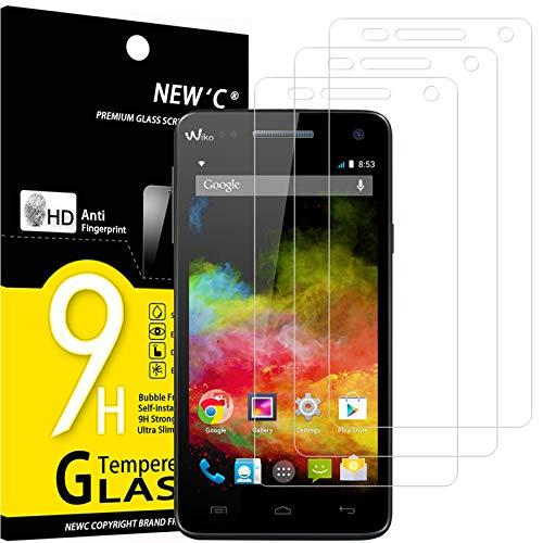 NEW'C 3 Stück, Schutzfolie Panzerglas für Wiko Rainbow 4G, Frei von Kratzern, 9H Festigkeit, HD Bildschirmschutzfolie, 0.33mm Ultra-klar, Ultrawiderstandsfähig
