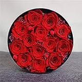 Rosa Flor Preservada Preservado regalos del banquete de la flor de Rose hechos a mano Nunca marchitadas Rosas Rose encantada de San Valentín Regalo Romantico ( Color : Azul , Size : Free size )