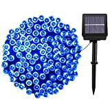 Solar Christmas Lights,72FT 200 LED 8 Modes Solar String Lights Outdoor,Waterproof Starry Fairy Lights for Indoor/Outdoor Commercial Decor Ambiance Home Patio Lawn Garden Holiday Party(Blue)