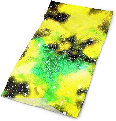 Keyboard cover Bandanas para la cabeza, diseño de galaxia espacial, color verde One_color. Talla única